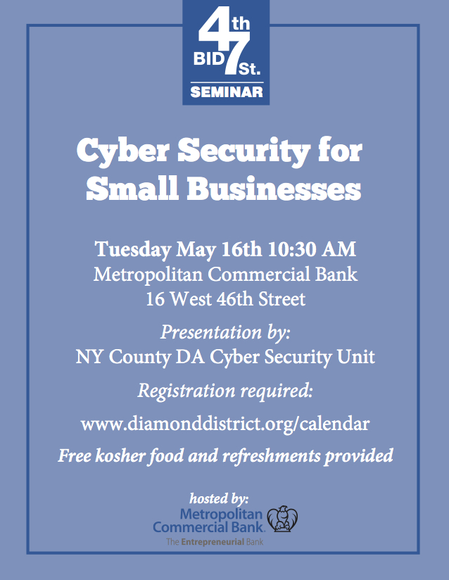 Cyber security flyer web